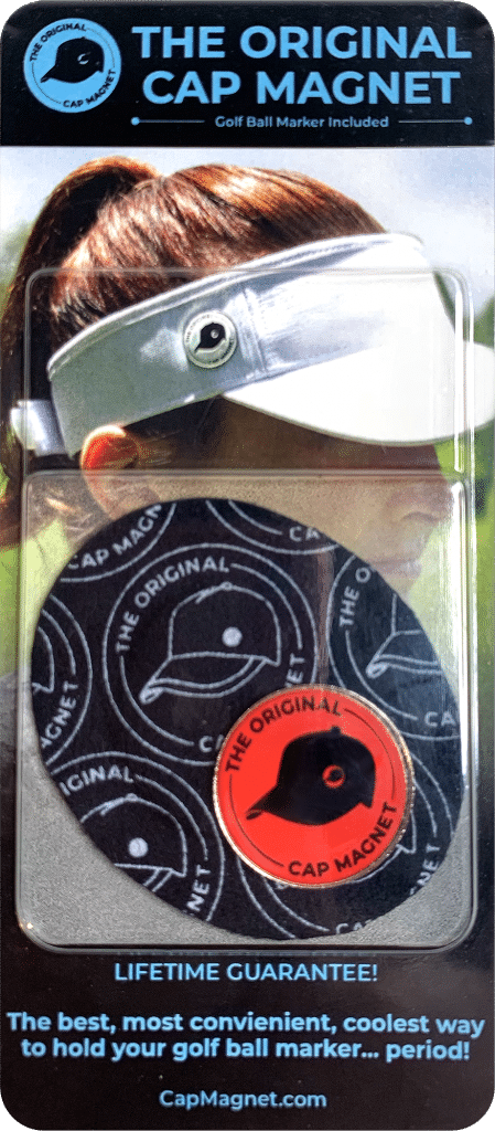 The Original Cap Magnet with Red Golf Ball Marker